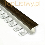 Listwa do gięcia Zic Zac 16x10mm wenge 0P dł:2,5m