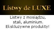 Listwy de Luxe - listwy mosiężne, stalowe, aluminiowe